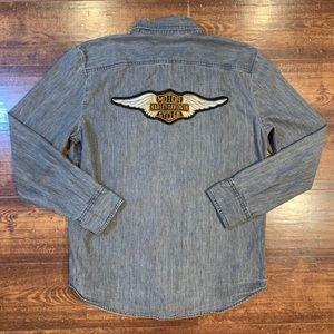 Women's Harley-Davidson Denim Button Down Shirt